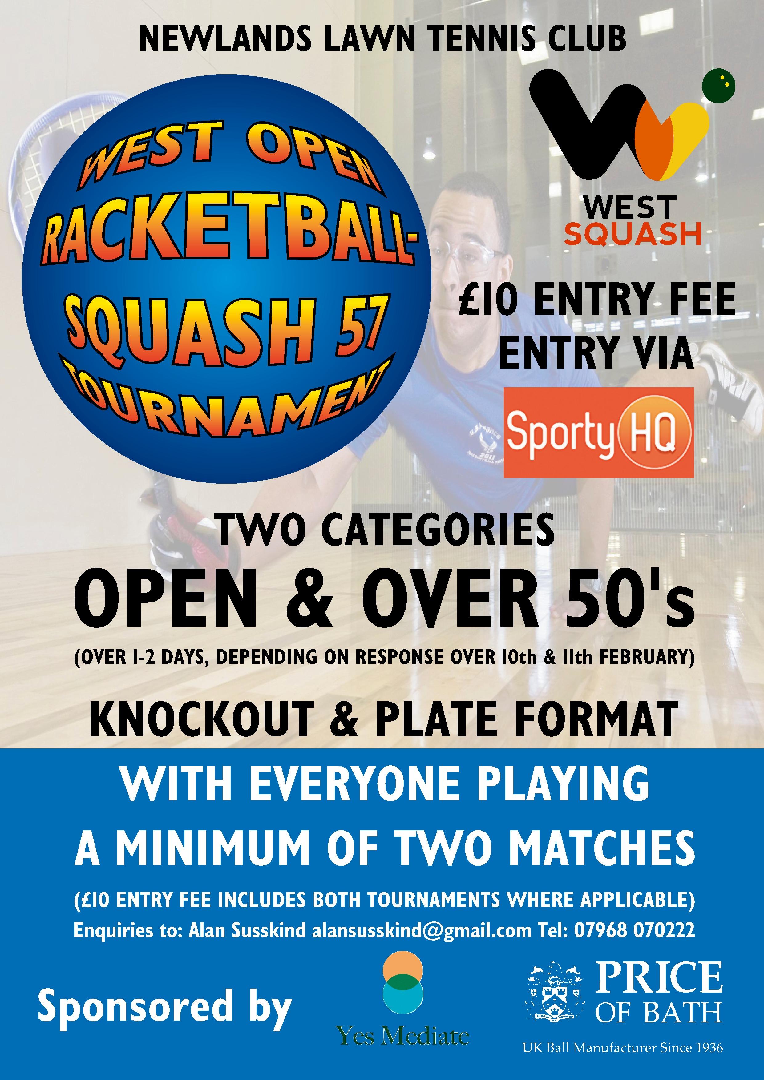West Open Racketball Squash 57 Tournament
